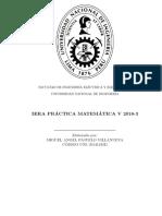 MA185 MATEMÁTICA V 3era Práctica Calificada