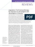 Regulatory T-cell Immunotherapy for Tolerance to Self Antigens and Alloantigens in Humans