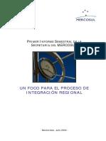1er InformeSemestral Secretaria Mercosur