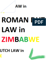 Roman Dutch Law in Zimbabwe