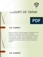 Yogurt de Tarwi
