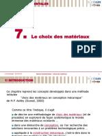 Mtx103 Choix Des Materiaux