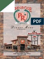 Penrose Diner - Dinner Menu