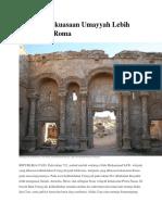 Wilayah Kekuasaan Umayyah Lebih Hebat Dari Roma