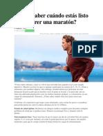 Cómo Saber Cuándo Estás Listo Para Correr Una Maratón
