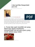 Makan Tomat Dan Apel Bisa Memperbaiki Sel