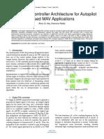 Efficient PID Controller Architecture for Autopilot Based MAV Applications