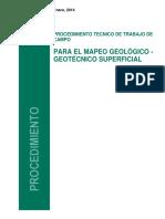Procedimiento de Trabajo de Campo-mapeo Geológico - Geotécnico Supeficial_Rev1 F. Cruzado