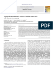 Theoretical Thermodynamic Analysis of Rankine Power Cycle