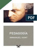 Kant, Immanuel - Pedagogia [41858] (r1.0)