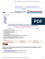 More Than 2000 Solved MCQs of STA630 Research Method & Short Question Answer - Virtual University of Pakistan