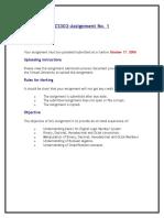 Digital Logic Design - CS302 Fall 2006 Assignment 01