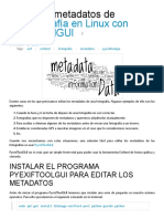 Editar Los Metadatos de Una Fotografía en Linux Con PyExifToolGUI