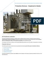 Power Transformer Protection Devices Explained in Details