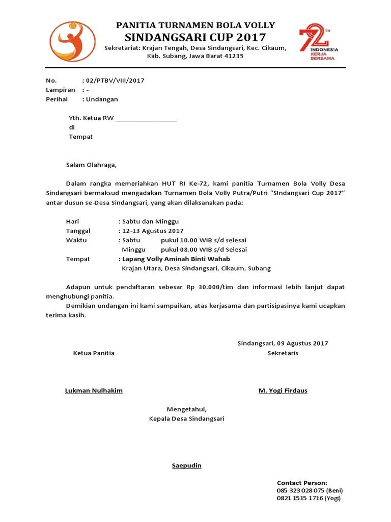 19+ Contoh surat edaran turnamen voli terbaru yang baik