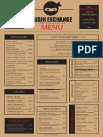 Sushi Exchange Menu1of2