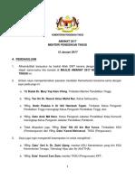Amanat 2017 Menteri Pendidikan Tinggi