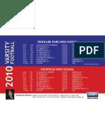 Highland Park and Deerfield High Schools' Varsity Football Schedules!