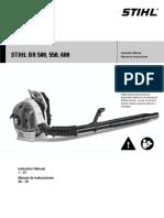 Stihl BR 500,550,600 Instruction Manual