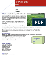 Iowa State Weed Control Results Yr 2015