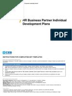 CEB HR Business Partner Individual Development Plans (1)