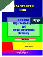 Iriza Dictionary Kinyarwanda-English and English-Kinyarwanda 2006