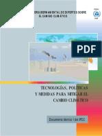 Tecnologías, políticas y medidas para mitigar el cambio climático