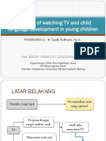 Duration of Watching TV and Child Language