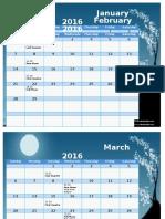 2016 Moon Calendar Ut Pic