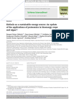 Biofuels as a Sustainable Energy Source an Update of the Applications of Proteomics