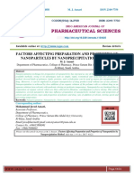 FACTORS AFFECTING PREPARATION AND PROPERTIES OF NANOPARTICLES BY NANOPRECIPITATION METHOD