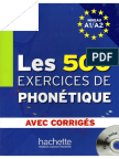 Abry D Chalaron M -L - Les 500 Exercices de Phonetique - 2010