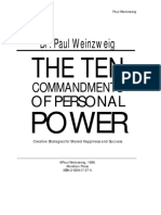 Paul Alan Weinzweig - Ten Commandments of Personal Power