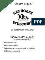 Bienvenid*s a qué? Situación de los campos de refugiados en Alemania
