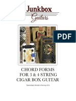 Chord Forms for Cigar Box Guitar G Blues