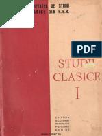 01 Revista Studii Clasice I 1959