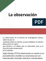 1.- La Observación