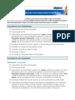 Financiamento Imobiliario Relacao de Documentos
