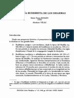 A. Vélez. La Teoría Buddhista de Los Dharmas