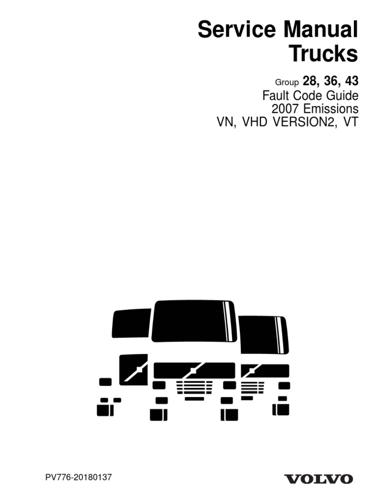 Volvo Truck Fault Codes pdf | Transmission (Mechanics