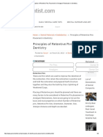 Principles of Retentive Pins Placement in Amalgam Restoration in Dentistry