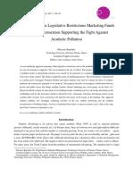 Operating Within Legislative Restrictions Marketing Funds