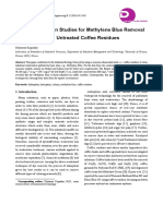 Fixed-bed-column Studies for Methylene Blue Removal and Recovery by Untreated Coffee Residues