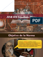 NOM 004 Expediente Clínico