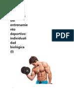 Principios Del Entrenamiento Deportivo Individualidad Biológica (I)