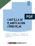 Cartilla de Planificación Para Secundaria - 2017