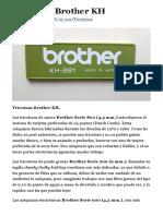 Tricotosa Brother KH Por Tricotosing.com