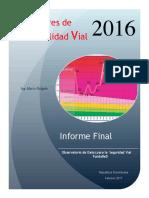 Indicadores Siniestralidad Informe Final 2016
