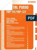 Yamaha Ydp 323 Piano Manual