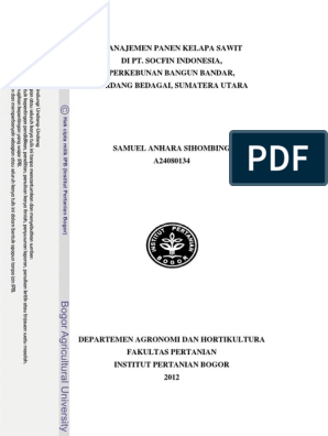 Manajemen Panen Kelapa Sawit Pdf